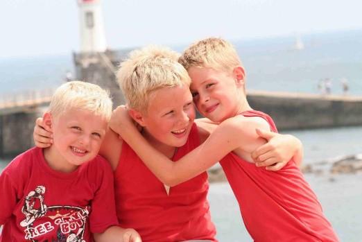 de jongens, Jurian, Ruben en Marvin, 2003